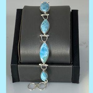 Jewelry - Sterling Silver Larimar Bracelet